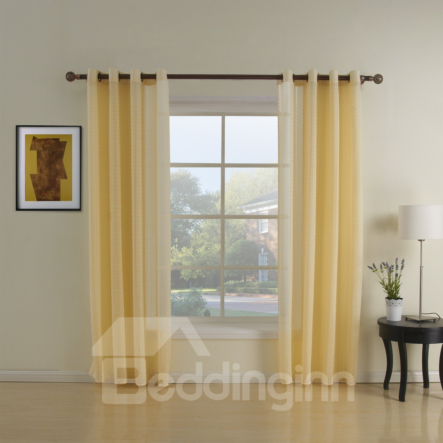Simple Home Fashion Grommet Top Custom Curtain