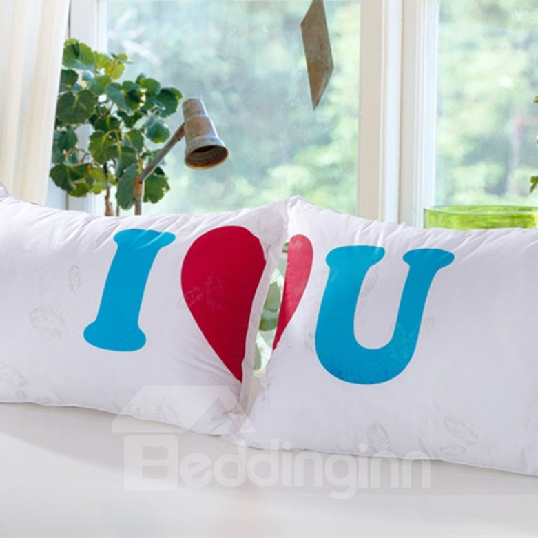 Romantic I Love You Pattern for Lover Bed Pillow