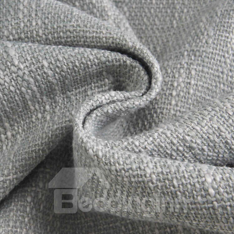 Gorgeous Amazing Gray Coarse Linen  Custom Grommet Top Curtain