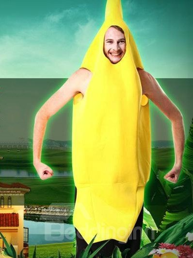 Hot Selling Fancy Cute Banana Pattern Costume