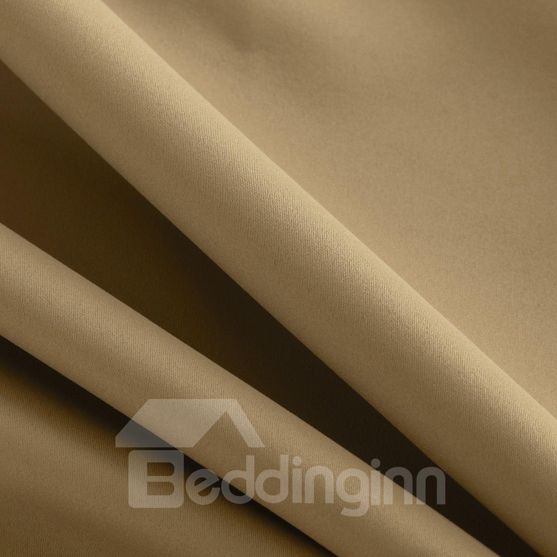 Modern Simple Wonderful Polyester Grommet Top Custom Curtain