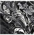 Fantastic Beautiful Flannelette Hot Silver Custom Curtain