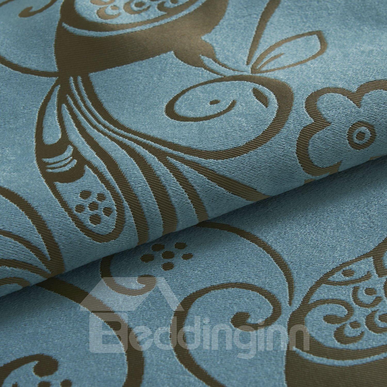 Chinese Classical Wonderful Grommet Top Custom Curtain