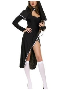 Hot Selling Sexy Fashion Nun Pattern Costume