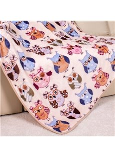 Lovely Lot Kinds of Owls Pattern Blanket