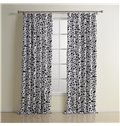 New Style Wonderful Double Pinch Pleat Cotton Custom Curtain