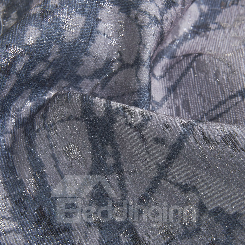 Pastoral Style Wonderful Gray Grommet Top Custom Curtain