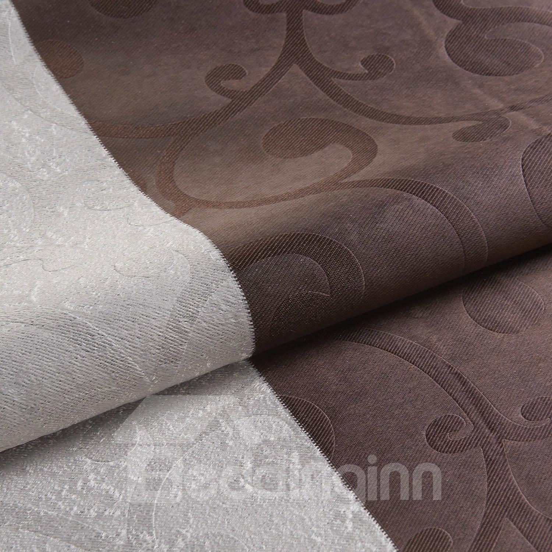 Top Quality Fantastic Brown Grommet Top Custom Curtain