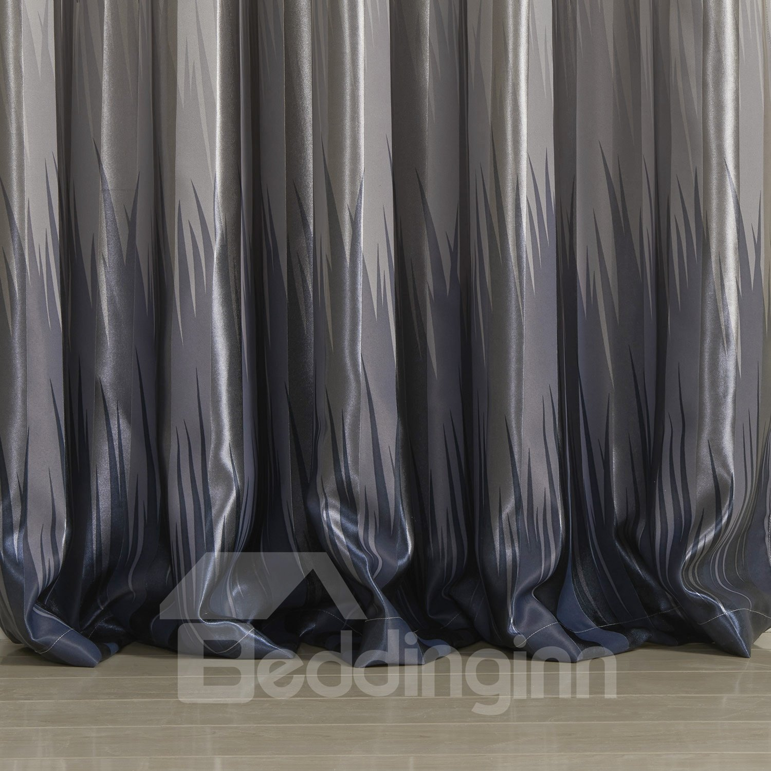 Fantastic Wonderful Polyester Classic Gray Custom Curtain