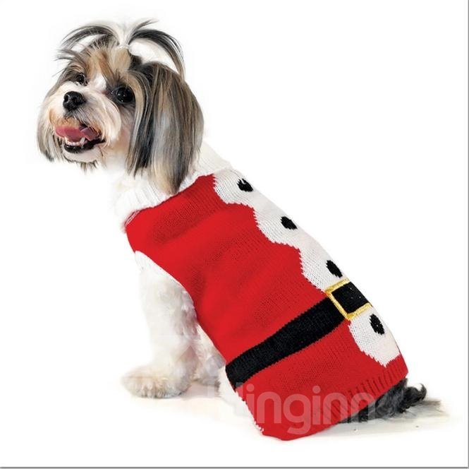 Fabulous Pretty Warm Red Sweater Dog Autumn and Winter Clothing