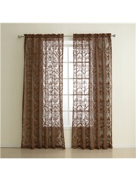 European Classic Wonderful Two Pieces Custom Sheer Curtain