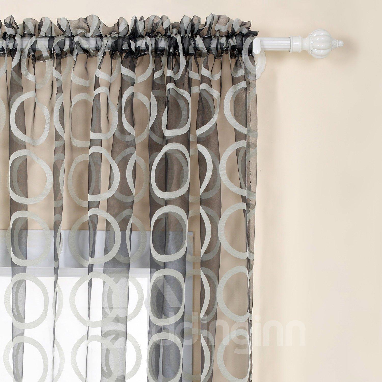 Cut Flowers Fantastic Custom Sheer Curtain with Beads