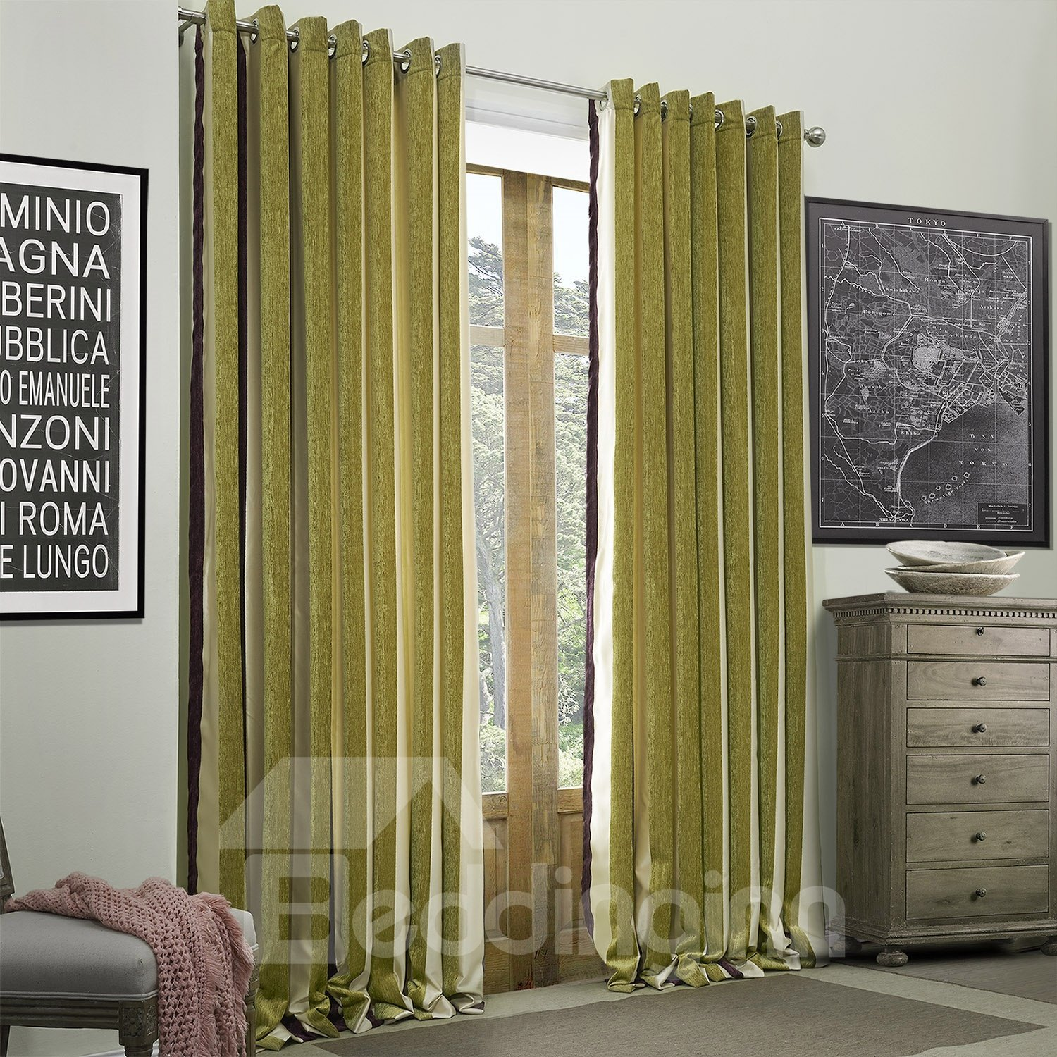 High Quality Fantastic Custom Curtain with Lining
