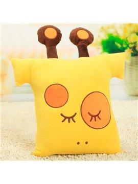 Super Soft Amazing Yellow Giraffe Pattern Throw Pillow