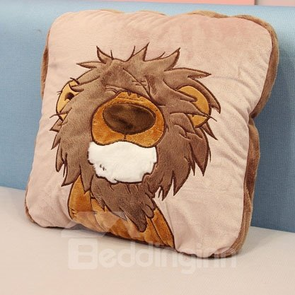 Creative Cute Lion Pattern Soft Pillow and Blanket