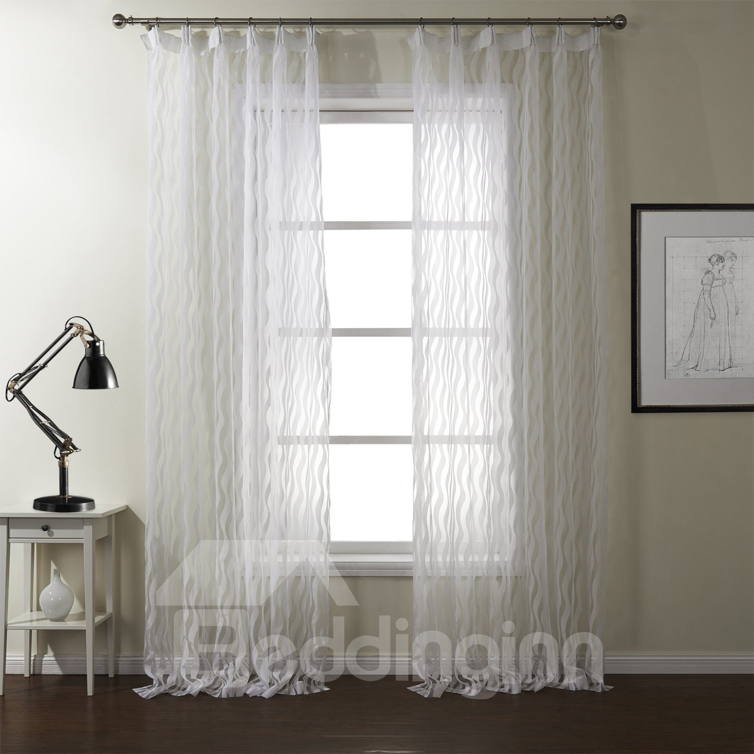 New Style Fantastic Polyester Custom Sheer Curtain