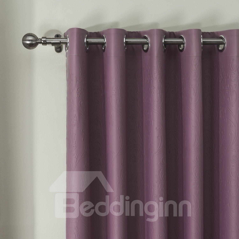 Concave Convex Embossing Crommet Top Custom Curtain