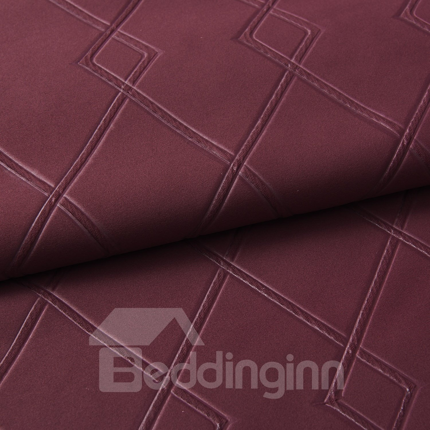 High Quality Wine Red High Density Custom Curtain