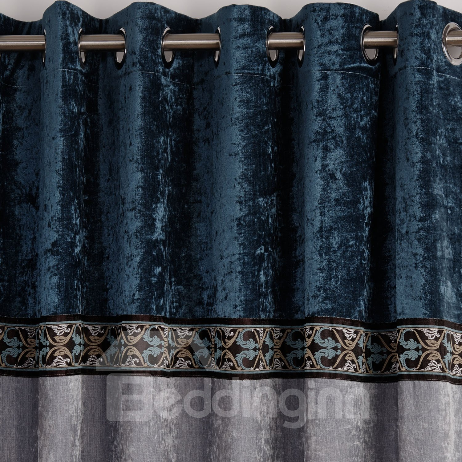 High Quality Solid Color Scheme Decorative Border Thickening Curtain