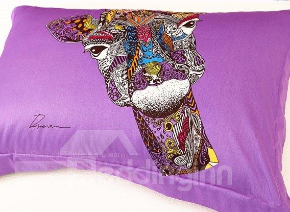 Unique Design  Horse Totem 100% Cotton Duvet Cover Set