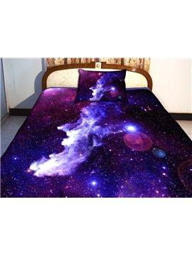 Amazing Purple Galaxy Print 4-Piece Duvet Cover Sets