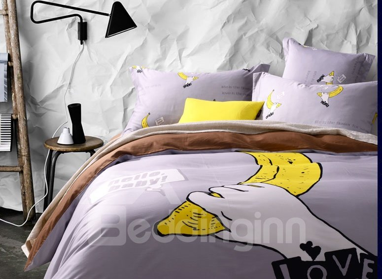 New Style 100% Cotton Wonderful Visual Effects Duvet Cover Set