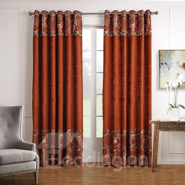 Top Class Rich Color Unique Pattern Custom Curtain