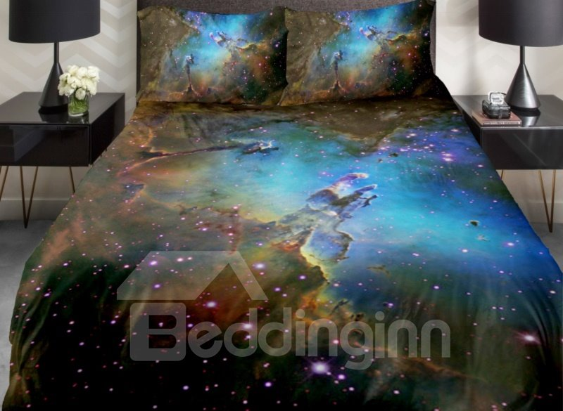 Dreaming Shining Star Island  Print 4-Piece Duvet Cover Sets