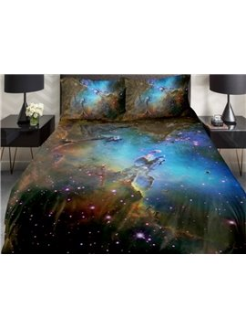 Dreaming Shining Star Island  Print 4-Piece Duvet Cover Sets