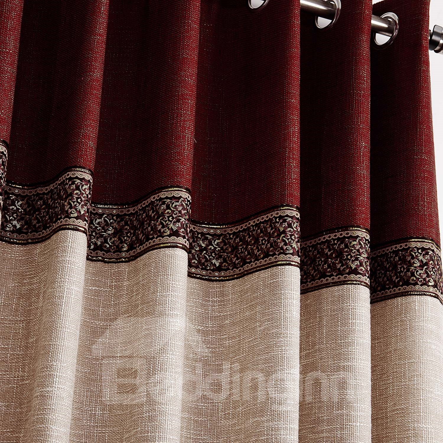 Hot Selling Fantastic Joint Color Decorative Border Design Custom Curtain