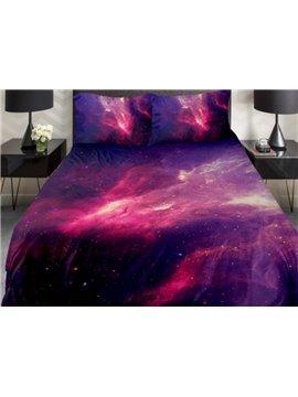 Fantastic Red Nebula Print 4-Piece Duvet Cover Sets