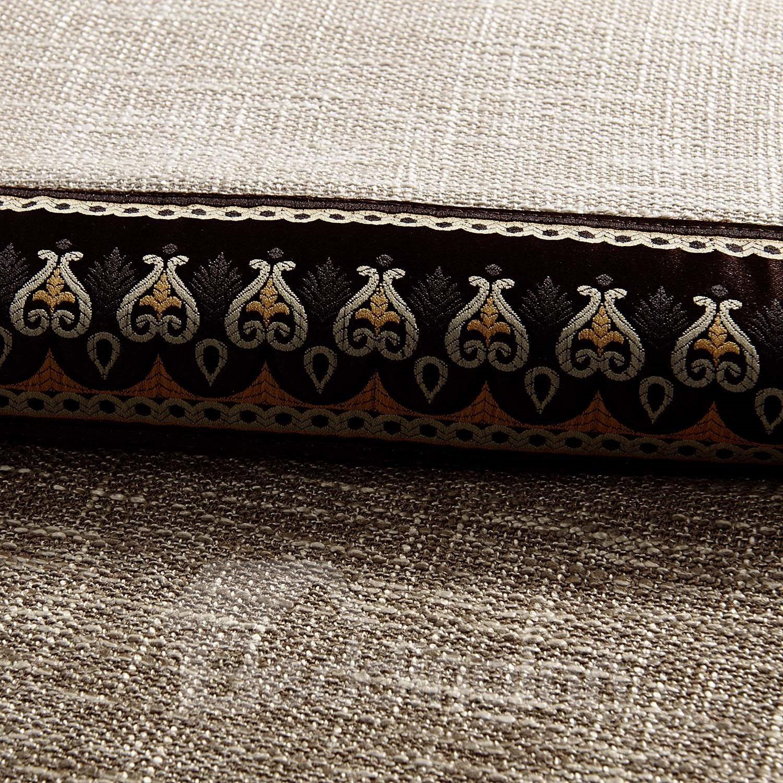Elegant Joint Color Decorative Border Design Custom Curtain