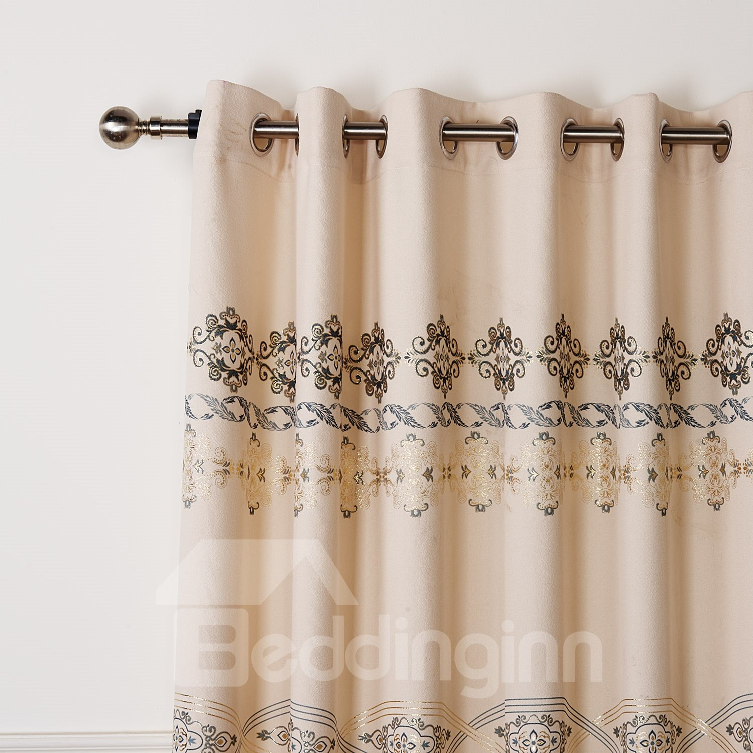 Fantastic Wonderful Pretty Gold Stamping Custom Curtain