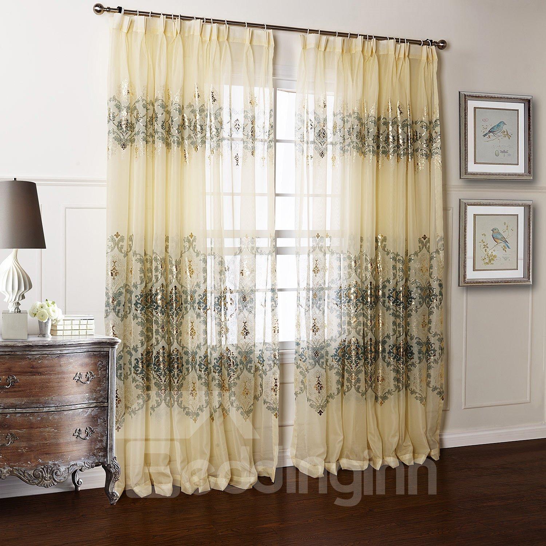 Top Quality Beautiful Transparent Yarn Custom Sheer Curtain