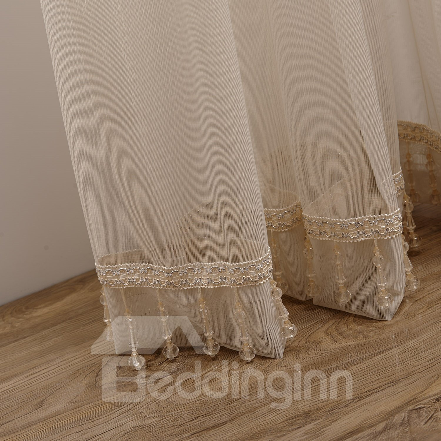 Elegant Concise Plain Solid Color Custom Sheer Curtain