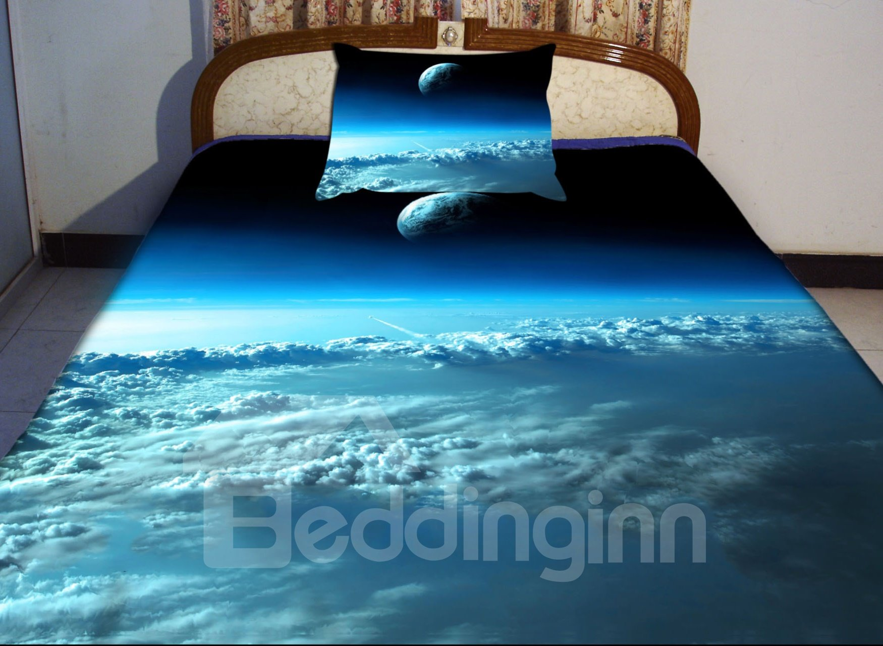 Blue Sky And Star Print 4 Piece Duvet Cover Sets ...