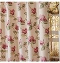 High Quality Pretty Floral Printing Chenille Custom Curtain