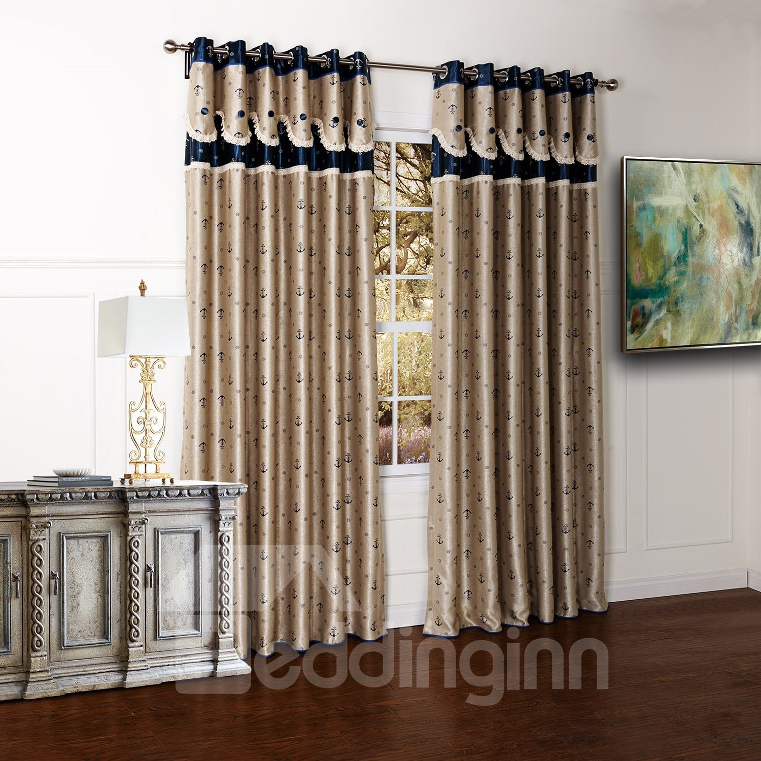 High Class Pretty Dyeing Double Color Custom Curtain