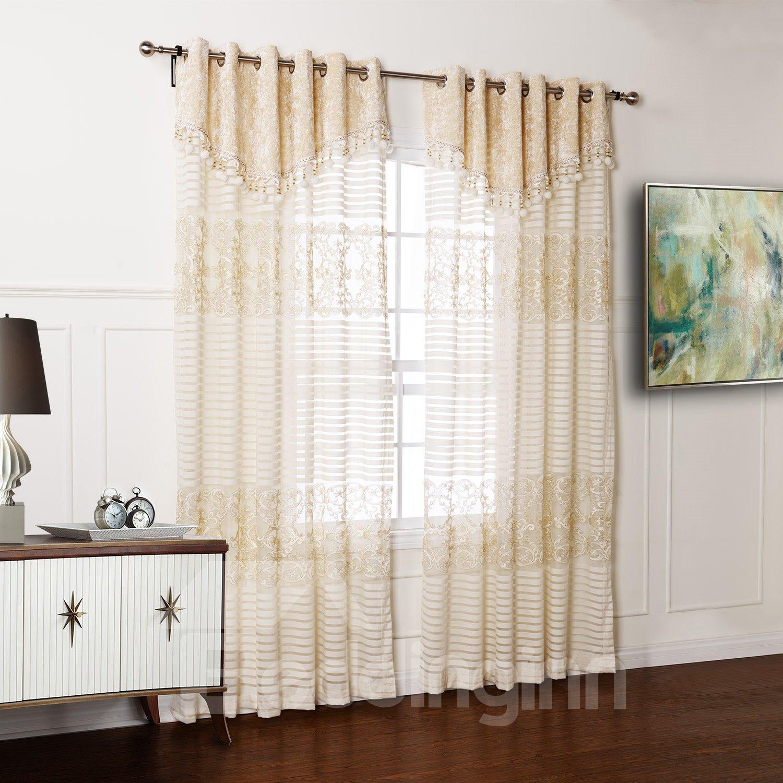 Top Selling Wonderful Two Pieces Custom Sheer Curtain