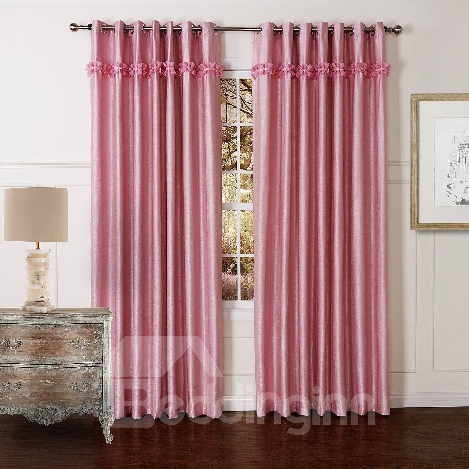 Wonderful High Quality Granular Villus Pretty Custom Curtain