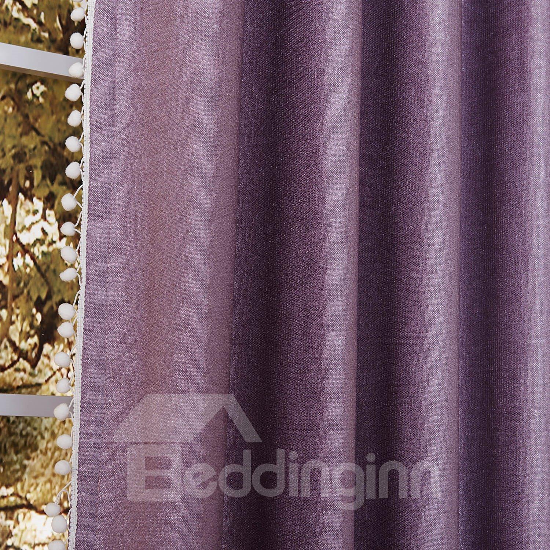 High Class Light Purple Pretty Granular Villus Custom Curtain