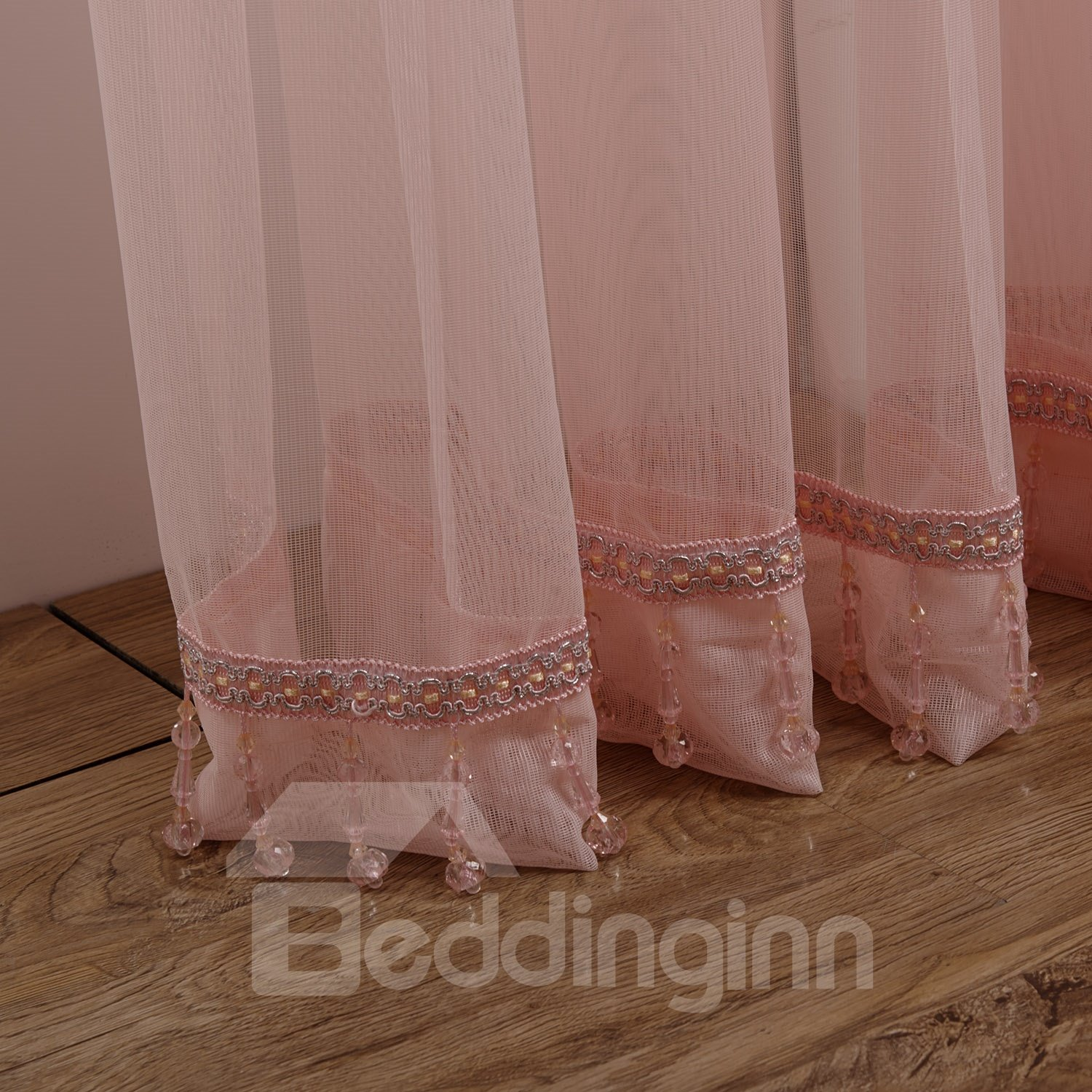 Wonderful Lovely Elegant Pink Cinderella Custom Sheer Curtain