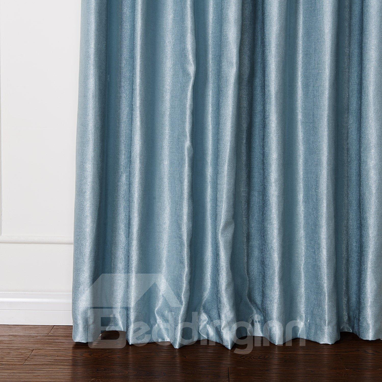 Classic Blue Pretty Granular Villus Custom Curtain