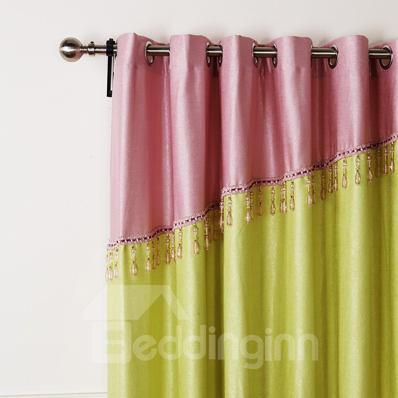 Beautiful Classic Emerald Green Granular Villus Custom Curtain