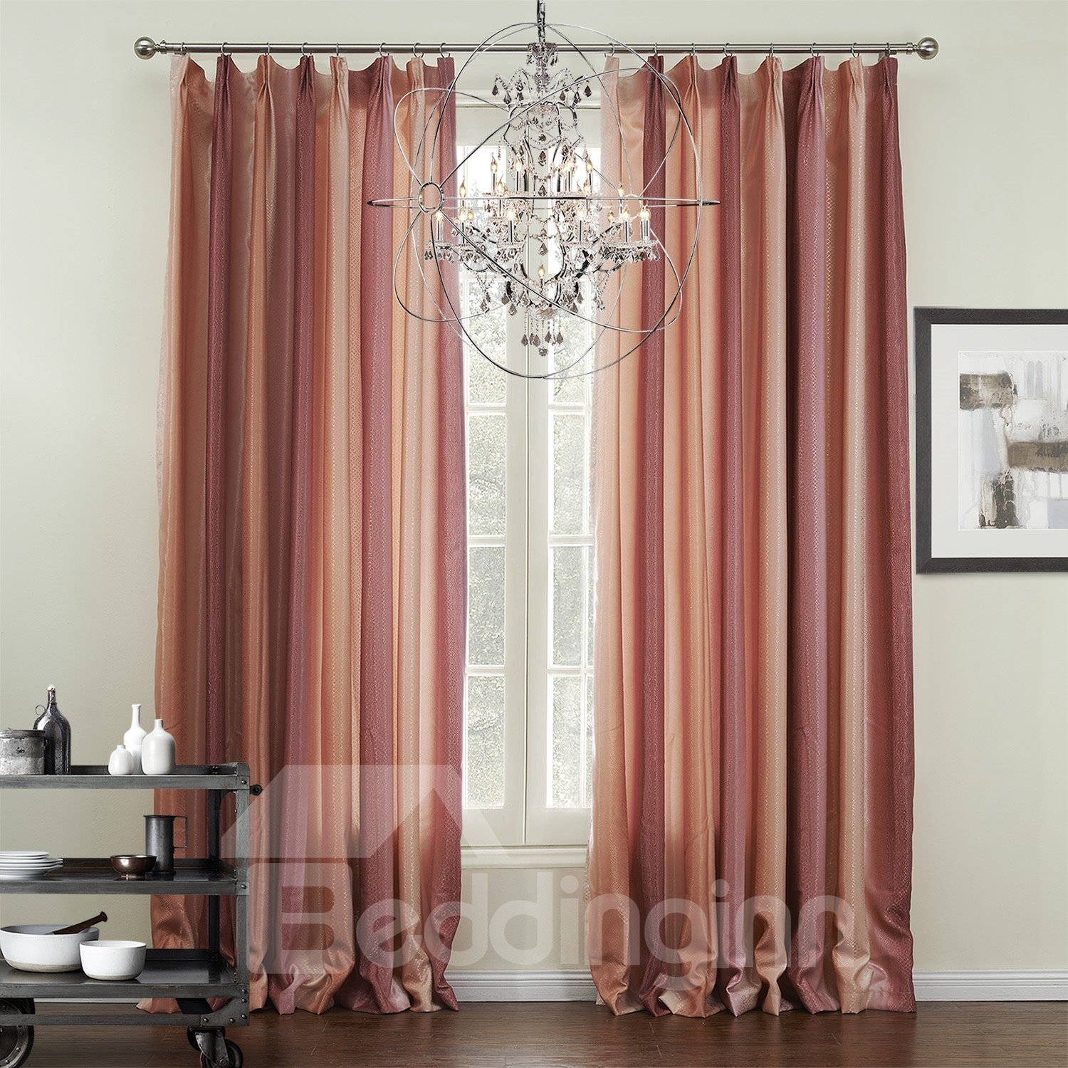 Graceful Pretty Red Checks Pattern Custom Curtain