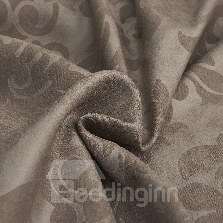 Graceful Amazing Coffee Jacquard Pattern Custom Curtain