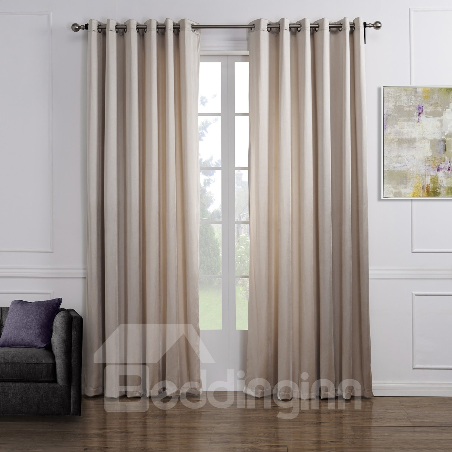 Top Selling Wonderful Pretty Grommet Top Custom Curtain