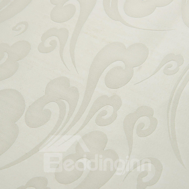 Fantastic Elegant White Jacquard Pattern Custom Curtain