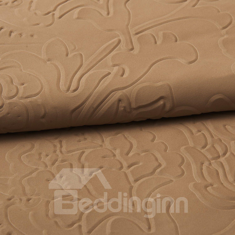 Fantastic Elegant Brown Amboss Pattern Custom Curtain
