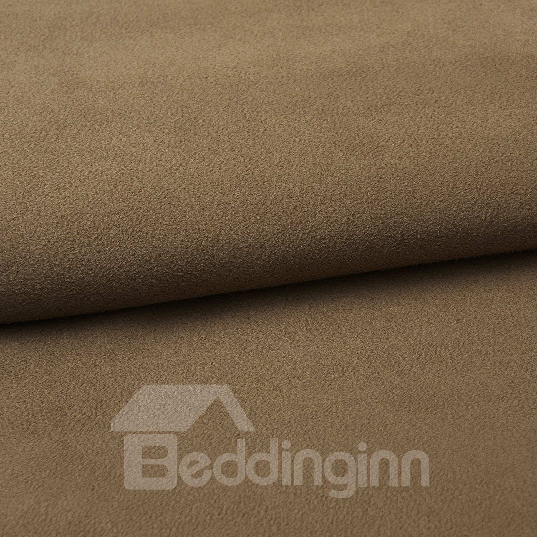 Fantastic Amazing Faux Suede Brown Design Custom Curtain